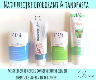 Natuurlijke deodorant en tandpasta